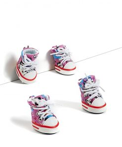 Toy to Small Dog Sneakers Canvas Shoes For Yorkie Chihuahua Pom Shih Tzu Maltese 2