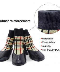 abcGoodefg Pet Dog Puppy Waterproof Nonslip Sports Socks Shoes Boots, Rubber Sole, Comfortable Design 2