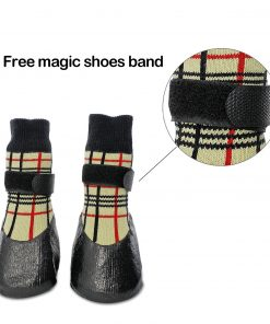 abcGoodefg Pet Dog Puppy Waterproof Nonslip Sports Socks Shoes Boots, Rubber Sole, Comfortable Design 3