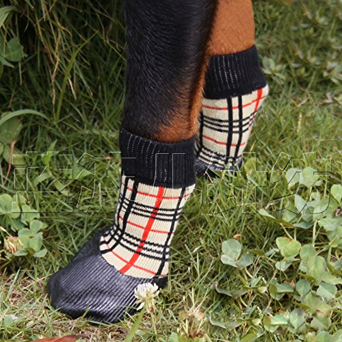 abcGoodefg Pet Dog Puppy Waterproof Nonslip Sports Socks Shoes Boots, Rubber Sole, Comfortable Design 6