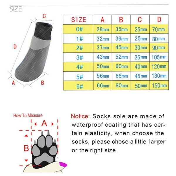 abcGoodefg Pet Dog Puppy Waterproof Nonslip Sports Socks Shoes Boots, Rubber Sole, Comfortable Design 7