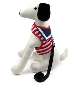 Alfie Pet by Petoga Couture - Dustin Sailor Harness and Leash Set - Colo- Red Stripe, Size - Small