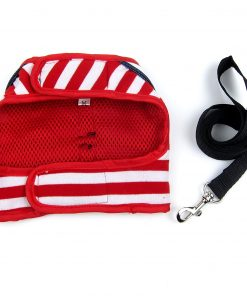 Alfie Pet by Petoga Couture - Dustin Sailor Harness and Leash Set - Colo- Red Stripe, Size - Small 5