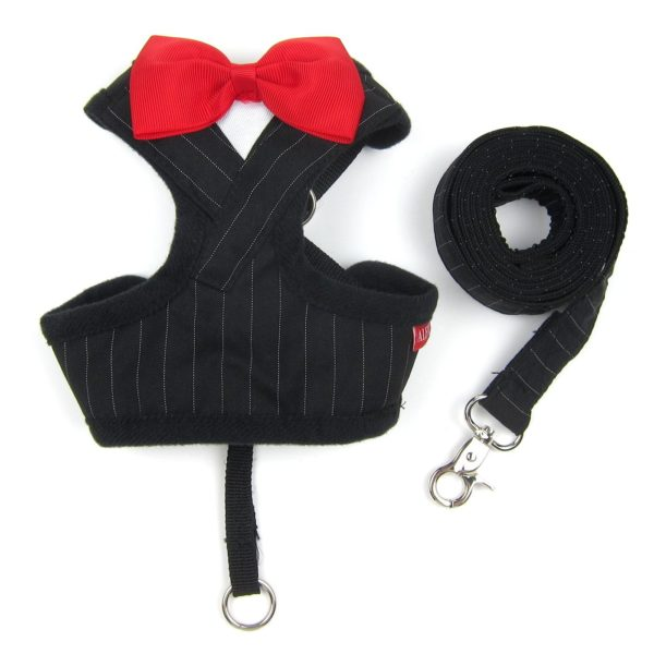 Alfie Pet by Petoga Couture - Osman Tuxedo Step-in Harness and Leash Set - Colo - Black, Size- XS 4