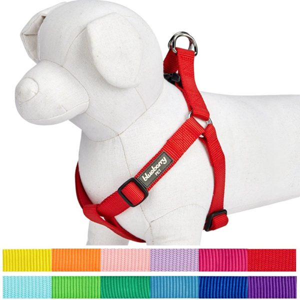 Blueberry Pet Classic Solid Color Adjustable Dog Harness