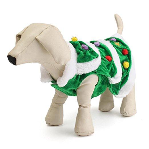 Keep Cat Away From Christmas Tree: DIGOOD Christmas Small Dog Cat Tree Keep Warm Hooded Sweater