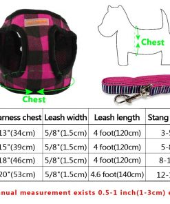 Didog Puppy Dog Harness Vest Leash Set,Perfect for Cats Small Dogs Yorkie Chihuahua Pomeranian 3