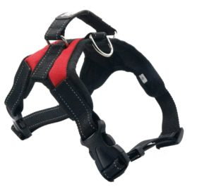 Dog Harness - For Small Medium Large Outdoor Easy Put On and Off Back Leash D-Ring Handle Control No Pull Non Choke Adjustable Vest Size Reflective Threads Oxford Mesh Canvas Jeans Farbic