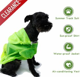 Dog Shirt Rash Guard Pet Summer Cloth Pup Sun Protection Shirts