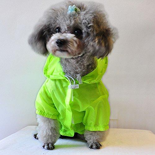 Dog Shirt Rash Guard Pet Summer Cloth Pup Sun Protection Shirts 4
