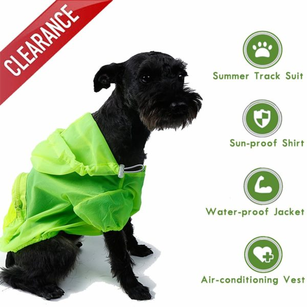 Dog Shirt Rash Guard Pet Summer Cloth Pup Sun Protection Shirts