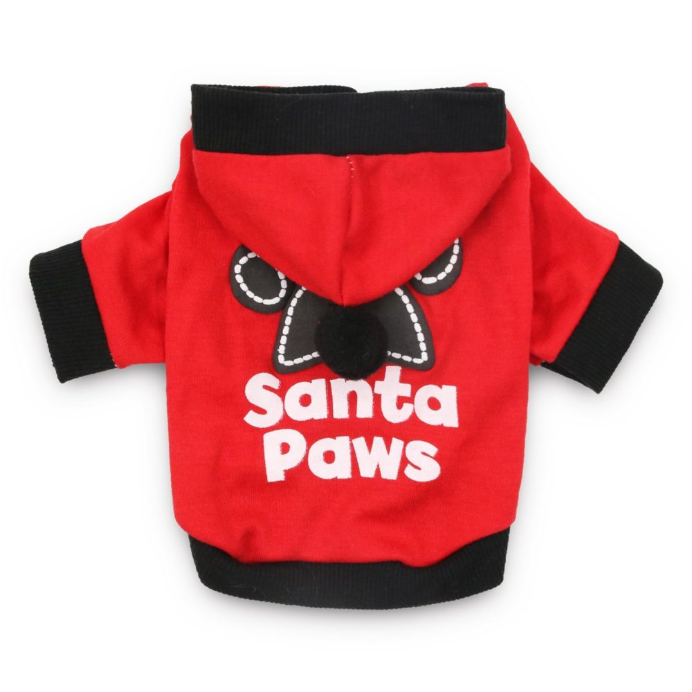 c1699b979633 DroolingDog Christmas Dog Shirt Small Pet Santa Hoodie Dog Costume
