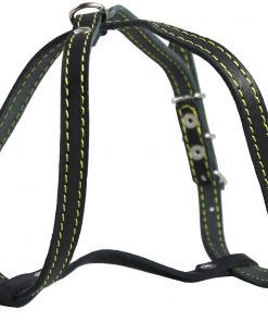 """Genuine Leather Dog Harness, 12""""-16"""" Chest size, 1/2"""" Wide, Maltese, Chihuahua, Puppies 3"""