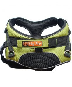 MY PET Harness Vest for Large Dogs Training Walking Adjustable Neck Comfortable Durable Soft Escape Proof No Pull Green Camo M