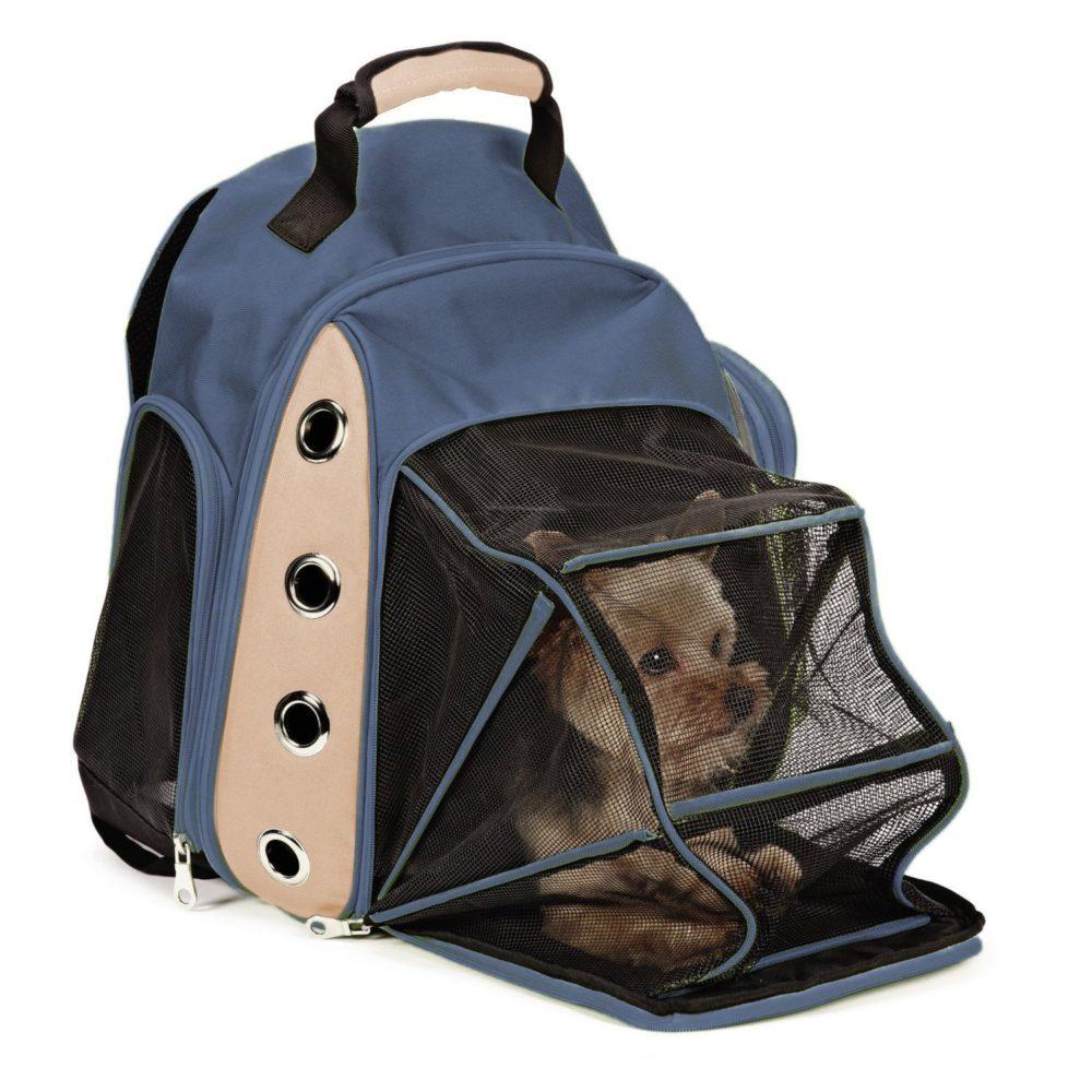 Multiple Deluxe Dog Carrier Mesh Travel Backpack Double Shoulders