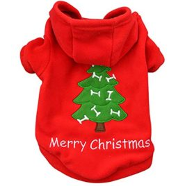 OLLYPET Puppy Christmas Clothes Hoodie for Dogs Teacup Pet Costume Sweater Clothing Girl Boy Chihuahua Yorkie Winter L
