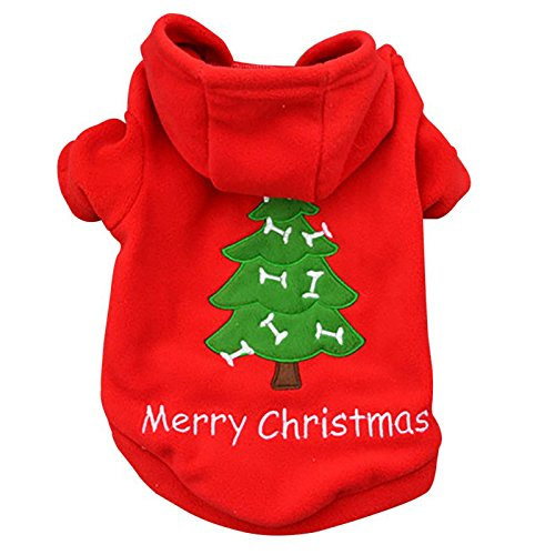 OLLYPET Puppy Christmas Clothes Hoodie for Dogs Teacup Pet Costume Sweater  Clothing Girl Boy Chihuahua Yorkie Winter L - OLLYPET Puppy Christmas Clothes Hoodie For Dogs Teacup Pet