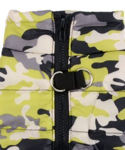 SELMAI Camo Small Dog Cat Winter Coat Vest Jacket Padded Pet Puppy Camouflage Costume with Harness Doggie Chihuahua Cold Weather Clothes Apparel 9
