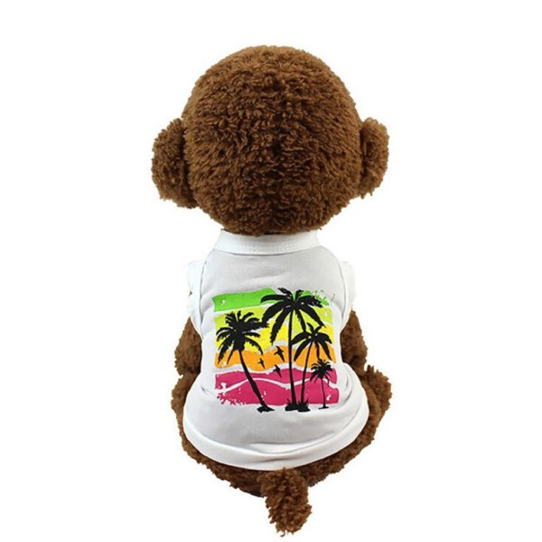 Binmer(TM) Lovely Hawaii Coconut Trees Dog Vest Puppy Costume Summer Apparel Chihuahua Poodle Teddy Clothing