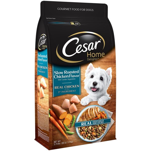 Cesar Dry Food 10169603 Small Breed Dog Slow Roasted Chicken Flavor with Garden Vegetables, 3.75 lb 2