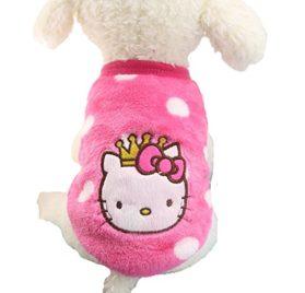 Chicpaw Puppy Pet Vest Small Dog Cat Clothes Shirt Coral Velvet Cartoon Coat Pet Chihuahua Apparel Costume