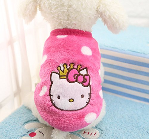 Chicpaw Puppy Pet Vest Small Dog Cat Clothes Shirt Coral Velvet