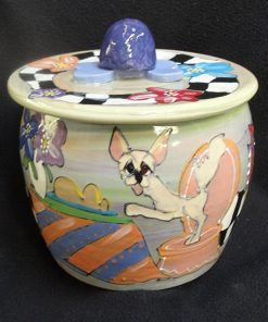 Chihuahua Treat Jar, Personalized at no charge and signed by Artist, Debby Carman