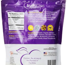 Fruitables Pumpkin & Blueberry Crunchy Dog Treats 1-7 ounce Pouch 2