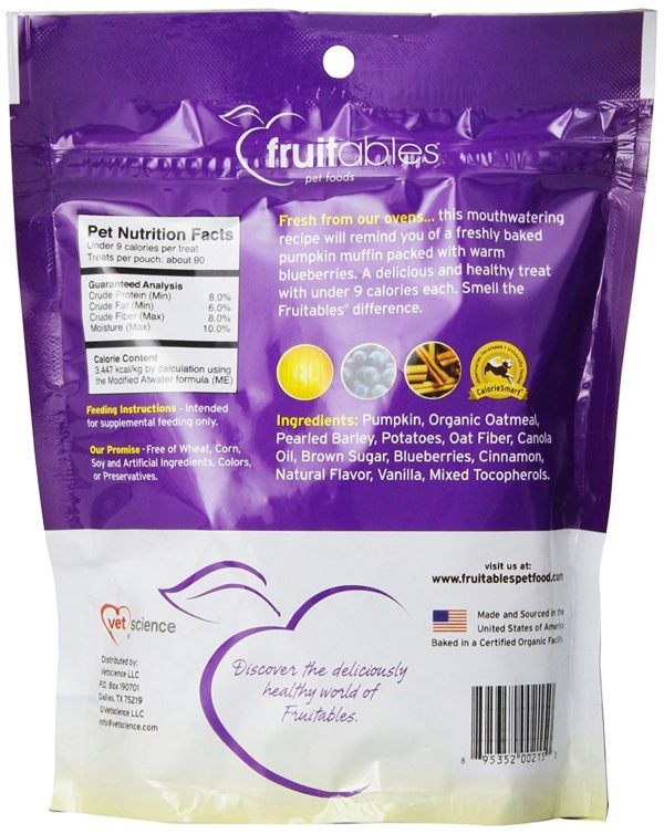 Fruitables Pumpkin & Blueberry Crunchy Dog Treats 1-7 ounce Pouch 2