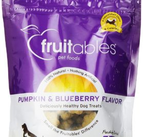 Fruitables Pumpkin & Blueberry Crunchy Dog Treats 1-7 ounce Pouch