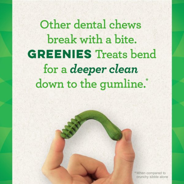 GREENIES Grain Free Dental Dog Chews, Teenie, 96 Treats, 27 Ounces; Grain Free Dental Dog Treats For Clean Teeth and Healthy Gums 10