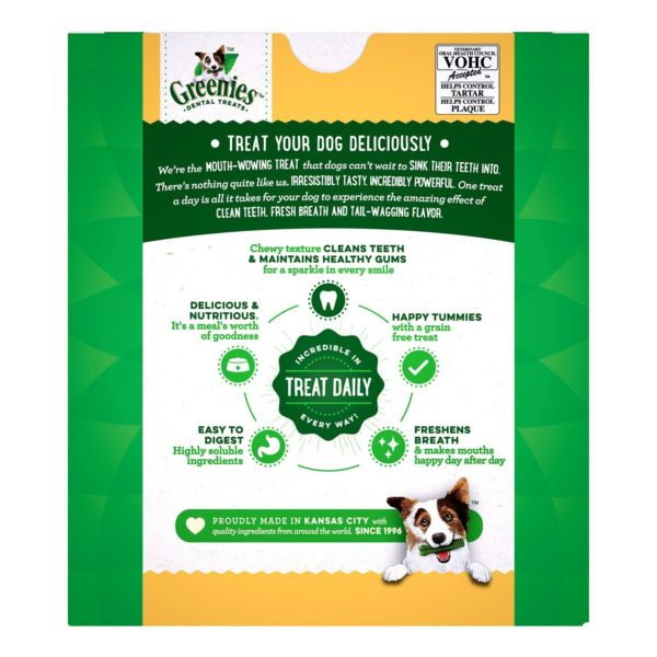 GREENIES Grain Free Dental Dog Chews, Teenie, 96 Treats, 27 Ounces; Grain Free Dental Dog Treats For Clean Teeth and Healthy Gums 2