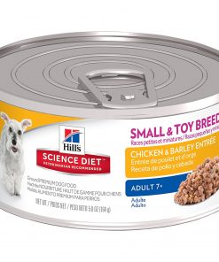 Hill's Science Diet Mature Adult Small & Toy Entrees Wet Dog Food, 5.8-Ounce Can, 24-Pack