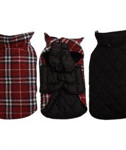 JoyDaog Reversible Plaid Dog Coat(7 Sizes)Waterproof Windproof Warm for Cold Weather Dog Jacket