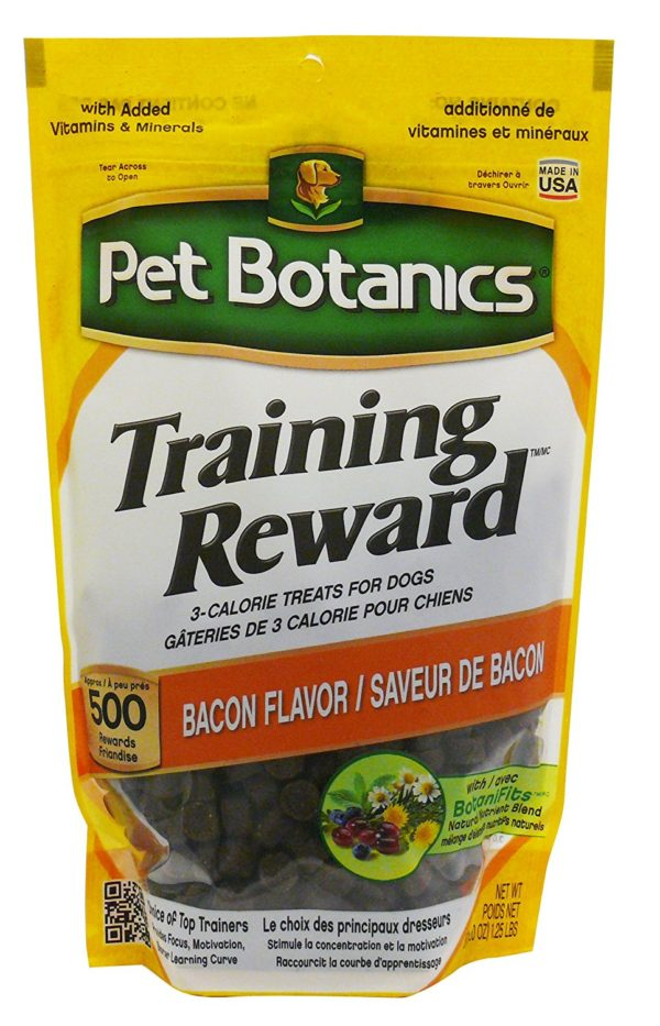 Pet Botanics Training Rewards Treats, Bacon, 20-Ounce