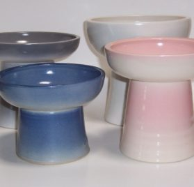 Raised Short Stoneware 8 oz. Bowl for SHORT Dogs & Miniature Pets ( Wt. 1 lb.) 2