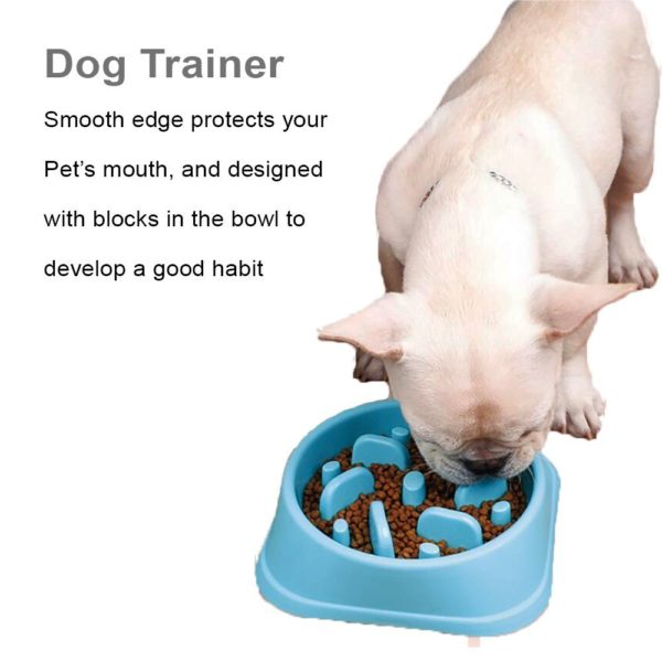 SLOW FEEDER DOG BOWL DOG DRINK WATER BOWL – FUNY AND HEALTHY INTERACTIVE FEEDER STOPS DOG BLOAT CONDITION BY EATING MORE SLOWLY 4