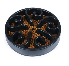 Slow Feeder Dog Bowl, Non Toxic Eco-friendly Interactive Fun Puzzle Dish with Non Skid Base Spiral Design Prevent Choking indigestion for Pets Dogs Cats