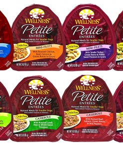 Wellness Petite Entrees Natural Grain Free Wet Dog Food Variety Pack - 8 Different Flavors - 3 Ounces Each (8 Total Entrees)