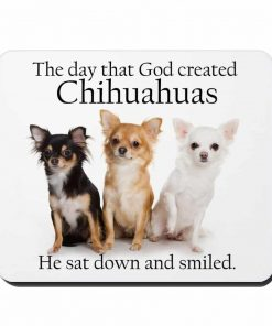 CafePress - God & Chihuahuas - Non-slip Rubber Mousepad, Gaming Mouse Pad
