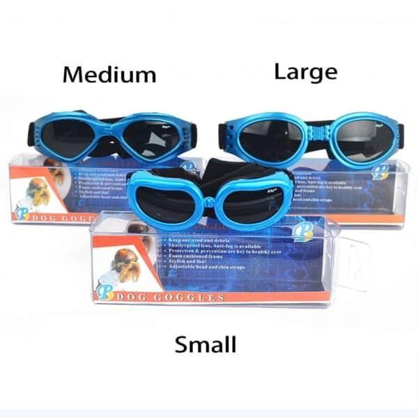 Dog Goggles, Pet Sunglasses, Foldable UV Protection Eyewear Fashion Doggie Puppy Glasses with Adjustable Strap 3