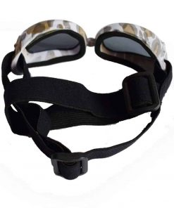 Dog Sunglasses, Doggy Goggles, Kromi Foldable UV Protection Doggie Dog Motorcycle Goggles Eyewear Pet Sunglasses for Small Medium Large Dogs (S, Camo) 3