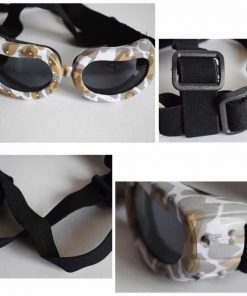 Dog Sunglasses, Doggy Goggles, Kromi Foldable UV Protection Doggie Dog Motorcycle Goggles Eyewear Pet Sunglasses for Small Medium Large Dogs (S, Camo) 5