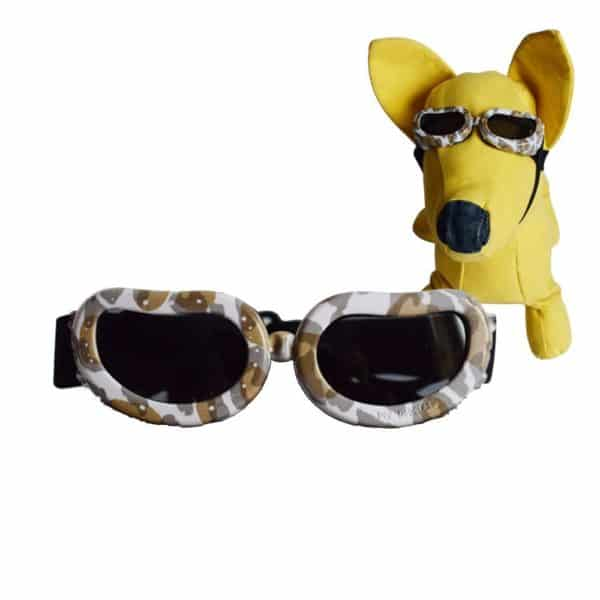 Dog Sunglasses, Doggy Goggles, Kromi Foldable UV Protection Doggie Dog Motorcycle Goggles Eyewear Pet Sunglasses for Small Medium Large Dogs (S, Camo)