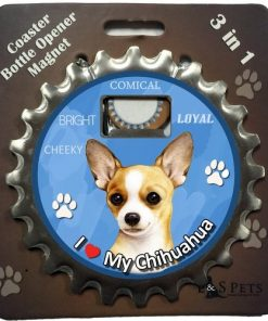 E&S Pets Chihuahua Tan Bottle Opener, Coaster and Magnet