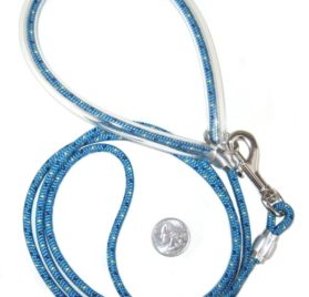 SMALL DOG LEASH - PERIWINKLE BLUE 5 FOOT - LIGHT ENOUGH FOR POMERANIAN, TOY POODLE, CHIHUAHUA, OR TERRIER AND STRONG ENOUGH FOR A GREAT DANE. LESS THAN 3 OZ.