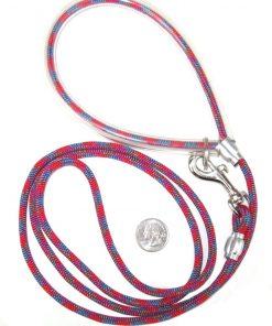 Small Dog Leash - Sunset Red 5 foot leash - Light enough for a Pomeranian, Toy poodle, Terrier, or Chihuahua and strong enough for a great Dane