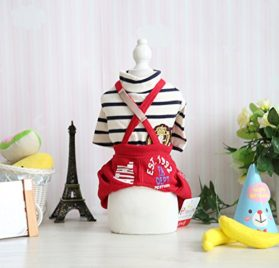 Small Pet Clothes , Tiny Dog Spring Pants Cat Puppy Casual Jumpsuit Pocket Overalls Clothes for Summer Spring 2