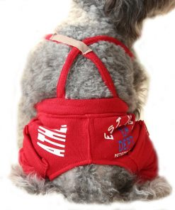 Small Pet Clothes , Tiny Dog Spring Pants Cat Puppy Casual Jumpsuit Pocket Overalls Clothes for Summer Spring