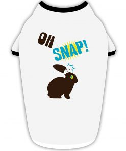 TooLoud Oh Snap Chocolate Easter Bunny Stylish Cotton Dog Shirt